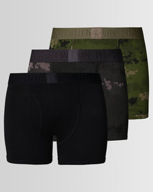 Ringspun 3pk Boxershorts Camo Olive Camo/Black/Charcoal Camo