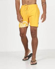 Crosshatch Ramires Symbol Swim Shorts Saffron Yellow