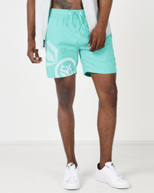 Crosshatch Ramires Symbol Swim Shorts Atlantis Aqua