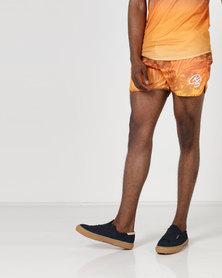 Crosshatch Mythrop Gradient Print Swim Shorts Orange