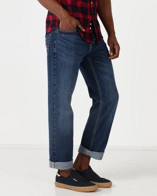 Crosshatch Jorge Straight Leg Jeans Medium Wash