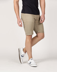 Crosshatch Fastrack CH Chino Short Taupe Timber Wolf