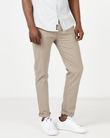 Crosshatch Chinor Classic Chinos Taupe Timber Wolf