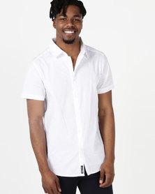 Crosshatch Lambart Short Sleeve Shirt White