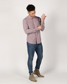Crosshatch Larix Gingham Check Shirt Red Check