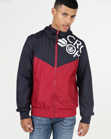 Crosshatch Scroton Panel Jacket Red/Charcoal