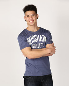 Crosshatch Shamen Puff Print T-Shirt Blue