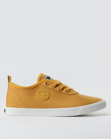 23c1ae8330be4 Soviet Callista Low Cut Canvas Lace Up Sneakers Burnt Mustard | Zando
