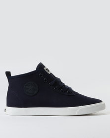 Soviet Callista Mid Cut Canvas/Denim Sneakers Navy