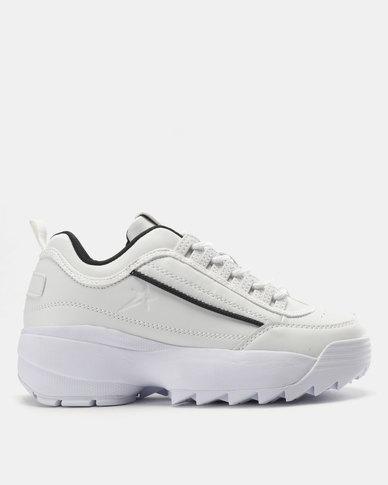 Soviet Petra Ladies Pu Sneakers White