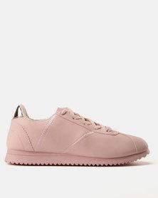 Soviet Carmela PU Nubuck Jogger Sneakers Pink Mono