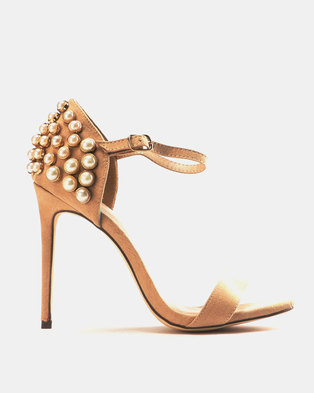 911b282378a6 Miss Black Hadia Heeled Sandals Nude