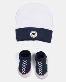 Converse Beanie & Bootie Set All Star Navy