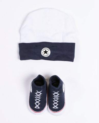 Converse Beanie   Bootie Set All Star Navy  89cc61df0b