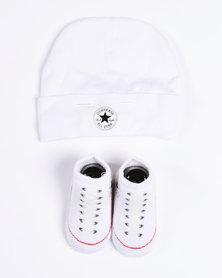 Converse Beanie & Bootie Set White & Black
