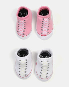 Converse 2 Pack Bootie Set Pink