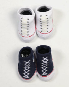 Converse 2 Pack Bootie Set All Star Navy