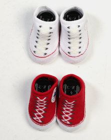 Converse 2 Pack Bootie Set All Star Red