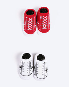 Converse 2 Pack Bootie Set Red/White