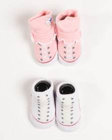 Converse 2 Pack Bootie Set Pink/White