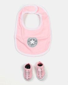 Converse Bootie & Bib Set Punch Pink