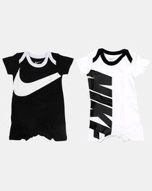 Nike Baby 2 Pack Babygrow Set Black