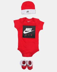 Nike Baby Babygrow Gift Set Red