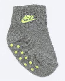 Nike Baby 3 Pack Grip Socks Black