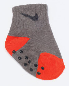 Nike Baby 3 Pack Grip Socks Red