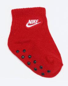 Nike Baby 3 Pack Grip Socks Red