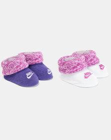 Nike Baby 2 Pack Bootie Gift Set Magenta