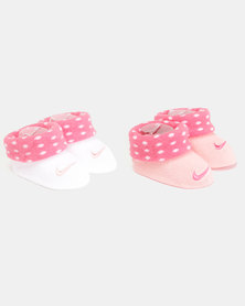 Nike Baby 2 Pack Bootie Gift Set Coral