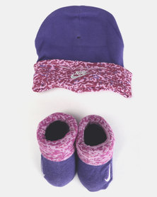 Nike Baby Beanie & Bootie Gift Set Magenta