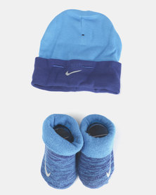Nike Baby Beanie & Bootie Gift Set Royal Blue