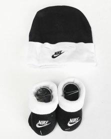 Nike Baby Beanie & Bootie Gift Set Black