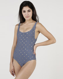 Euro Sun Trendy One Piece Navy Foil Anchor
