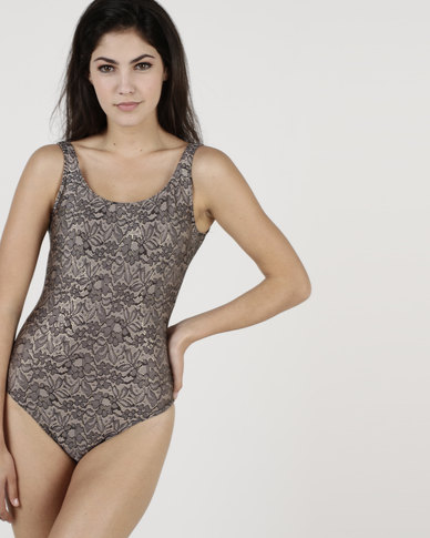 Euro Sun Trendy One Piece Lace With Gold Edging Multi