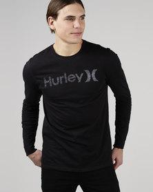 Hurley One & Only Push Thru Long Sleeve T-Shirt Black