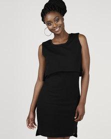 Bellfield Jaquard Layed Dress Black