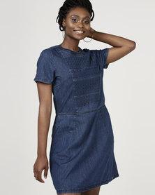Bellfield Jacquared Dress Denim