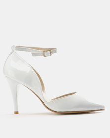 Pierre Cardin Womens 2 Part Pointy Courts White