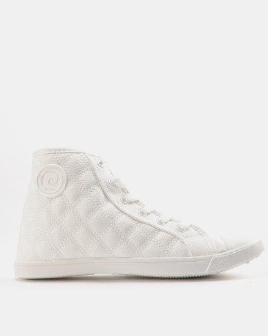 Pierre Cardin Quilted High Top Sneakers White