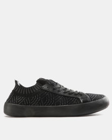 Pierre Cardin Knit Sneakers Black