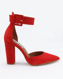 Steve Madden Posted Heels Red Nubuck