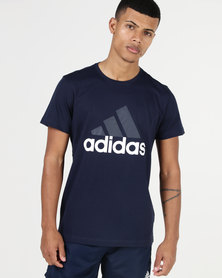 adidas Performance Essential Linear Tee Navy