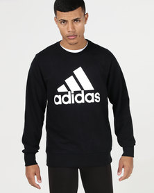 adidas Performance Essential Biglog Crew Sweatshirt Black
