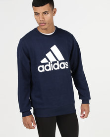 adidas Performance Essential Biglog Crew Sweatshirt Navy