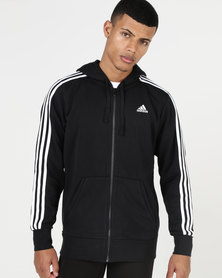adidas Performance Essential 3S FZ FT Jacket Black/White