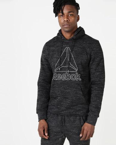 a2ed2ca54df Reebok Performance Mens EL Big Logo Hoodie Black