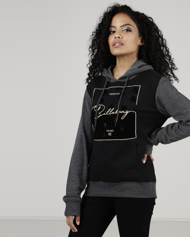 Billabong Swaypalm Contrast Hood Black/Charcoal/Heather